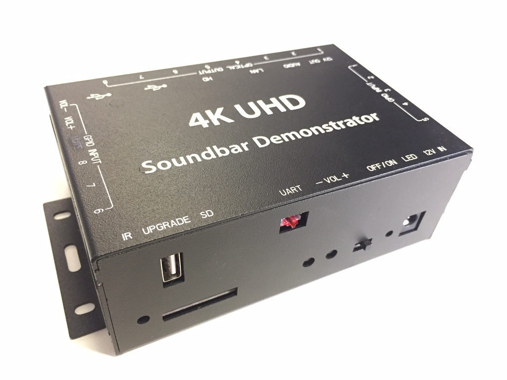 4K SoudBar Demonstrator - MultiFunctions Android Audio&VideoMediaplayer - 8x Digital Output + optional LED strips