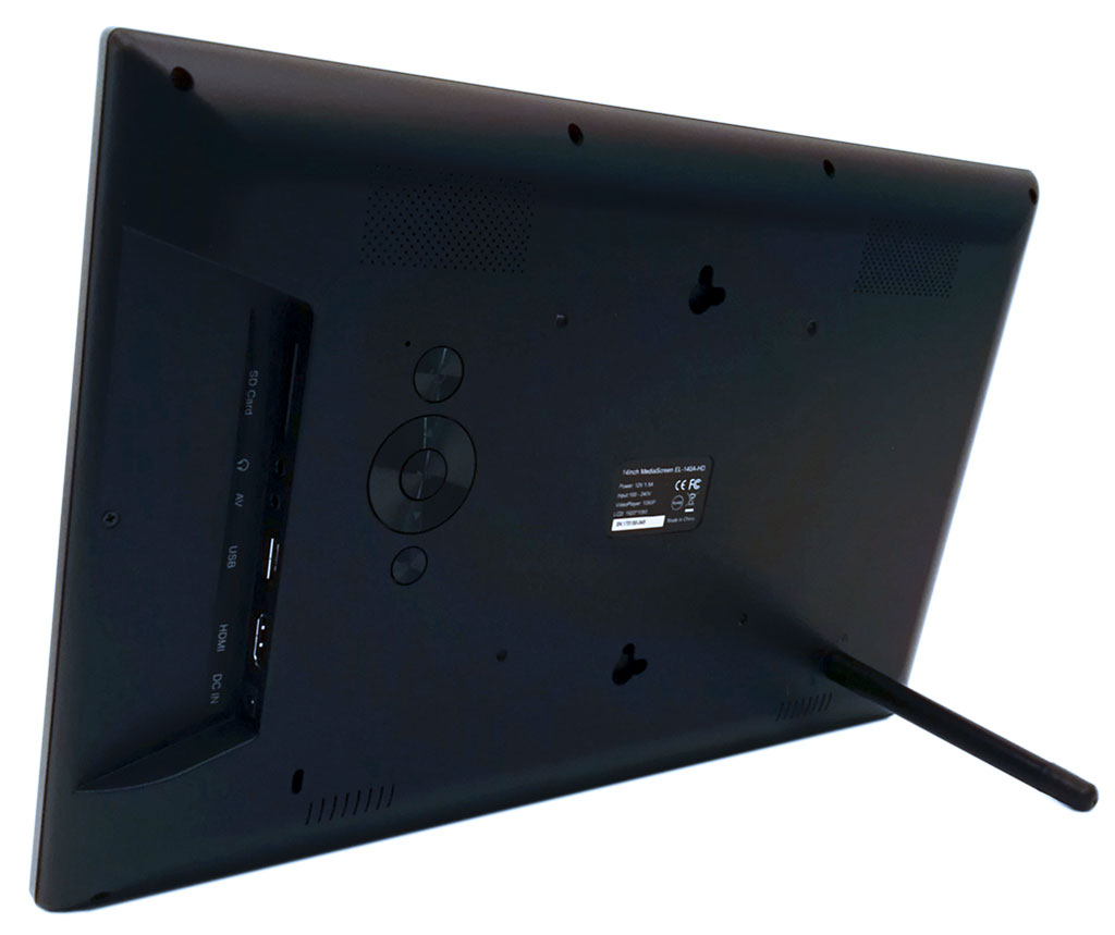 14inch Digital MediaScreen - AutoStart-Play-Repeat Video or Slides - Side