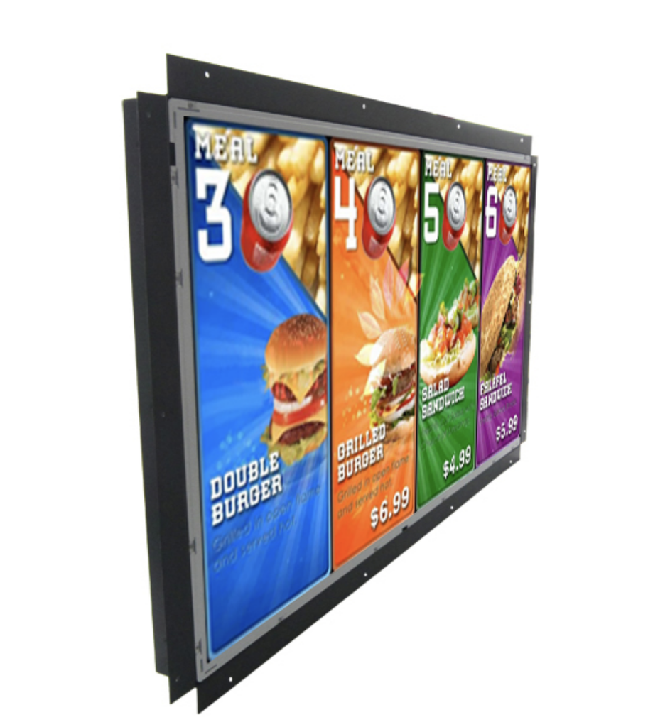 32inch MediaScreen Open Metal Frame 24-7 use Side