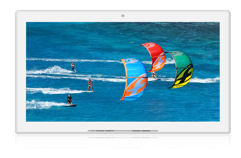 10.1inch Android Display  - Non-Touchscreen - Counter Model - White Housing - Front