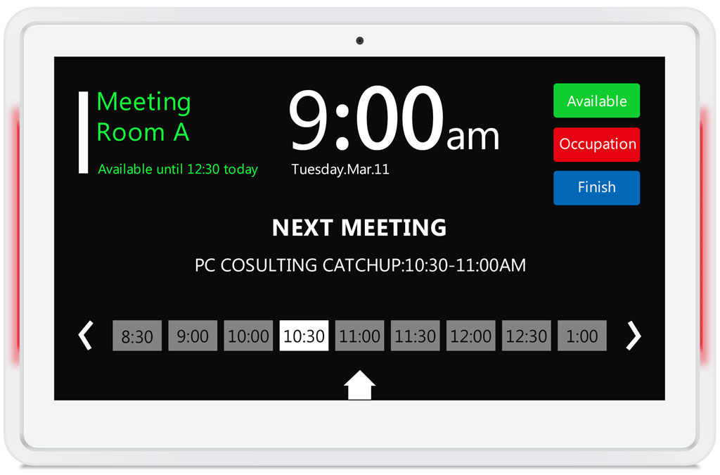 13.3inch Android MeetingRoom Display - TouchScreen - White / White